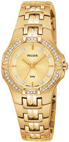Pulsar Watch, Women's Gold-Tone Stainless Steel Bracelet PTC390