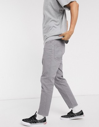 ASOS DESIGN classic rigid jeans in gray
