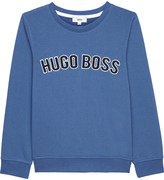 HUGO BOSS Logo stretch-cotton jumper 4-16 years