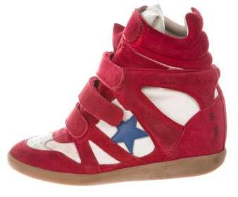 1ab4573ce4 Isabel Marant Red Women's Sneakers - ShopStyle