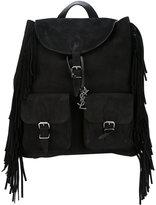 Saint Laurent fringe backpack - men - Calf Leather - One Size