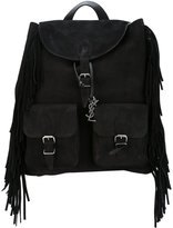 Saint Laurent fringe backpack