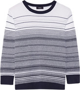 Theory Rainee striped knitted sweater