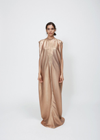 Rick Owens gold lamé audrey dress