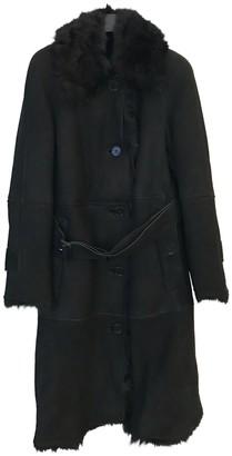 Burberry Black Shearling Coat for Women