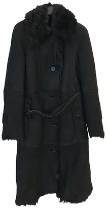 Burberry Black Shearling Coats