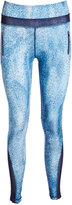 Therapy Blue Watercolor Zip-Pocket Performance Leggings - Plus Too