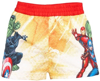 The Avengers BoysBoardshorts - Yellow