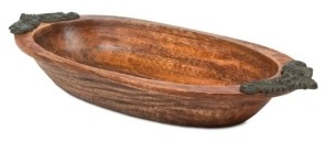 The GG Collection Heritage Collection Antiquity Oval Display Wood Bowl