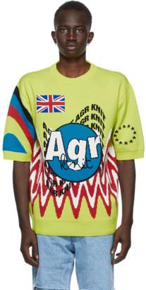 AGR SSENSE Exclusive Yellow Merino Wool Sweater