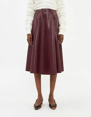 Farrow Nicole A-Line Skirt in Wine