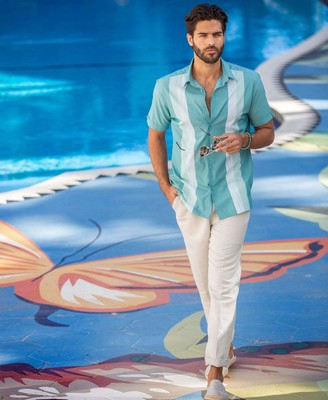Cubavera EcoSelect Vertical Stripe Shirt