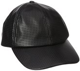 D&Y Women's Perferated Pleather Baseball Cap