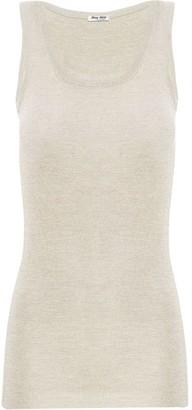Miu Miu Ribbed Knit Tank Top