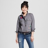 Mossimo Women's Military Jacket with Patches