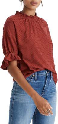 Madewell Texture & Thread Clip Dot Ruffle Top