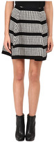 McQ by Alexander McQueen 3D Stitch Flirty Skirt