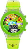 Character Boys Green Strap Watch-Tmr4064jc