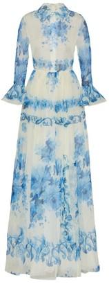 Valentino Ceramic Print Organza Gown