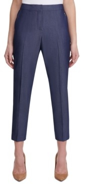 Tommy Hilfiger Sloane Slim-Straight Denim Ankle Dress Pants