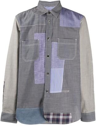 Junya Watanabe Patchwork Style Striped Shirt