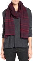 Eileen Fisher Stripe Merino Wool Jersey Scarf