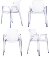 Heller Arco Chair Transparent Set Of 4