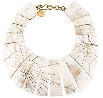 Ashley Pittman Horn Bib Collar Necklace