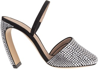 Lanvin J Sandal With Silver Rhinestones