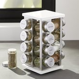 Crate & Barrel 16-Bottle White Revolving Spice Rack