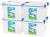 Iris Ziploc WeatherShield 44 Qt Storage Box - 4 Pack