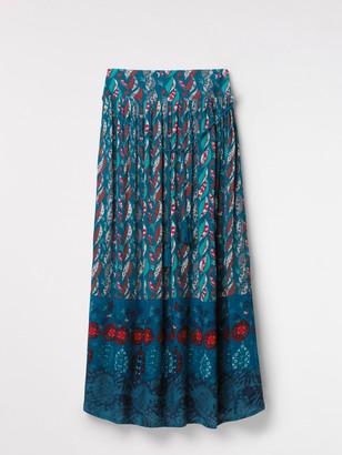 White Stuff Ines Crinkle Woven Maxi Skirt