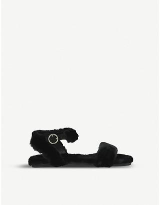 Kurt Geiger London Smitten faux-fur sandals 7-10 years