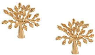 Mulberry Logo Tree Stud Earrings