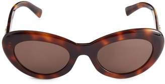 Versace 52MM Oval Faux Tortoiseshell Sunglasses