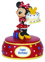 "Precious Moments Precious Moments, Disney Showcase Collection, Birthday Gifts, ""Minnie Mouse With Cake"", Resin Music Box, #142705"