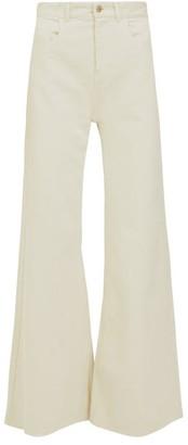 ATTICO High-rise Flared-leg Jeans - Cream