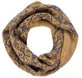 Dries Van Noten Metallic Wool-Blend Infinity Scarf