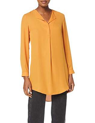 Vila NOS Women's Vilucy L/s Shirt-Noos Blouse, Orange Golden Oak, Large