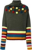 I'M Isola Marras pom-pom striped knitted top
