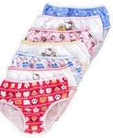 Hello Kitty Girls' or Little Girls' 7-Pack Cotton Underwear