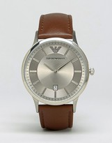 Emporio Armani AR2463 Tan Leather Strap Watch