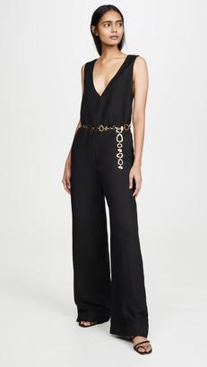 Solid & Striped Linen Jumpsuit