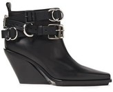 Ann Demeulemeester Buckled Leather Ankle Boots