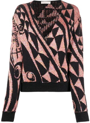 Emilio Pucci Sequin-Embellished Knitted Jumper