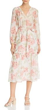 Rebecca Taylor La Vie Floral Print Midi Dress