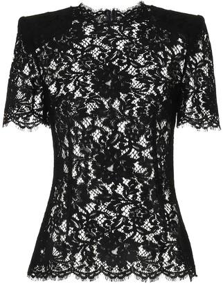 Dolce & Gabbana Cotton-blend lace top