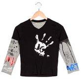 John Galliano Boys' Art Printed Layered T-Shirt