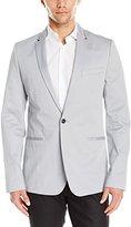 Calvin Klein Men's One Sateen Zip Lapel Jacket