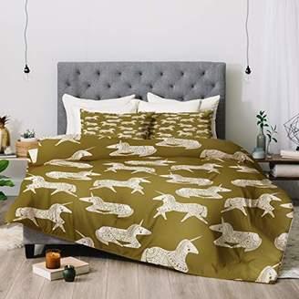 Deny Designs Dash and Ash Sleepy Unicorns Comforter Set with Pillow Shams
